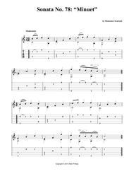 "Sonata No. 78: ""Minuet"""
