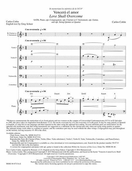Vencera el amor (Love Shall Overcome) (Full Score)