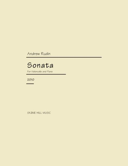 Sonata for Cello (2010)