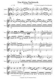 Eine Kleine Nachtmusik (1st movement) for Violin Duet
