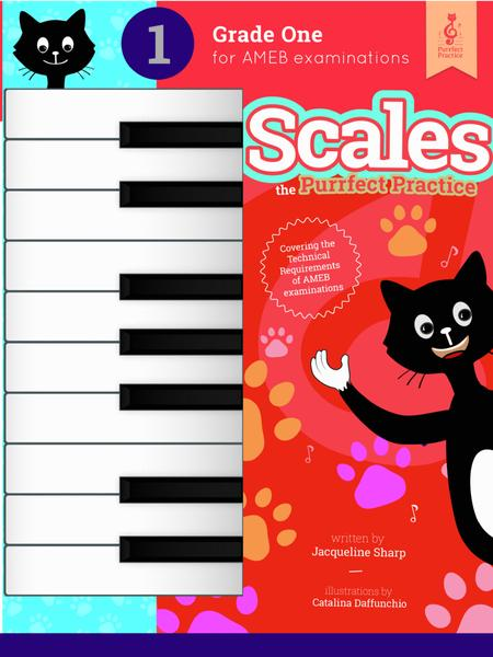 Piano Scales - the Purrfect Practice - Grade 1 AMEB