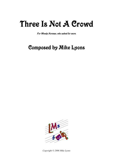 Flute Trio - Three Is Not A Crowd