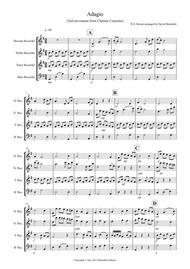 Adagio from Mozart's Clarinet Concerto for Recorder Quartet