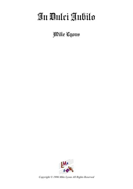 In Dulci Jubilo (Brass band trombone feature)