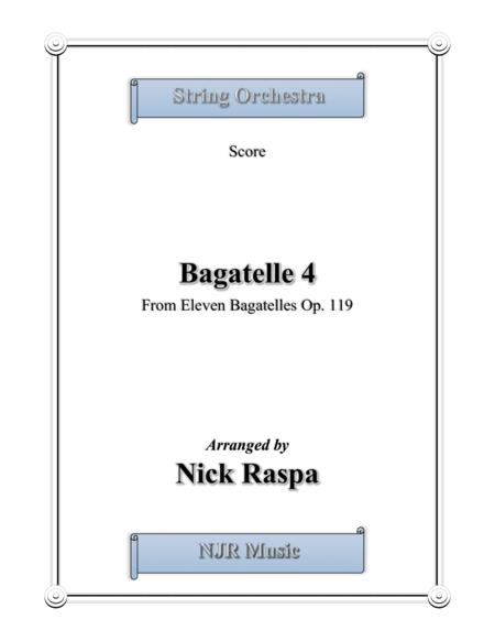 Bagatelle 4 for string orchestra - Full Set