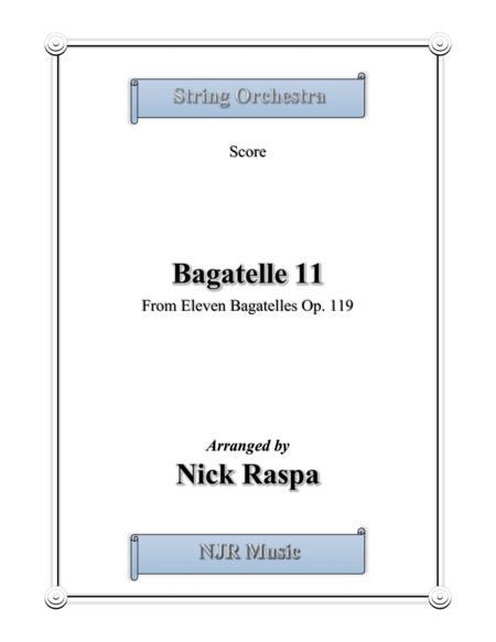 Bagatelle 11 for string orchestra - Full Set