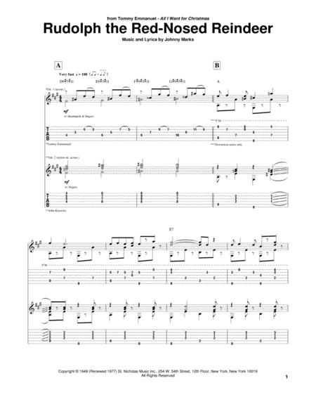 Download Rudolph The Red Nosed Reindeer Sheet Music By John Denver
