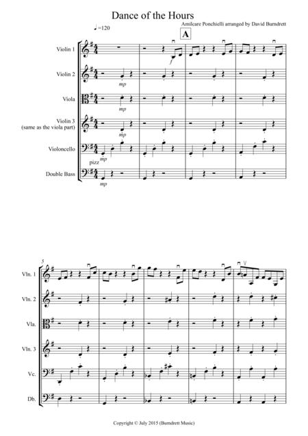 Dance of the Hours for String Orchestra