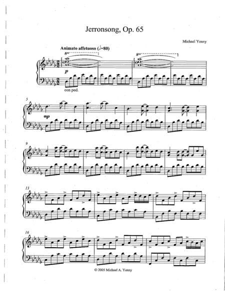 Jerronsong, op. 65