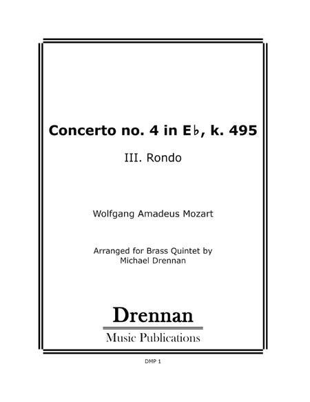 Concerto no. 4 K. 495 - III. Rondo