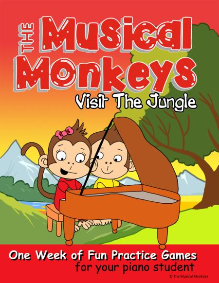 One Week Practice Fun for Young Piano Students - Learn about jungle instruments