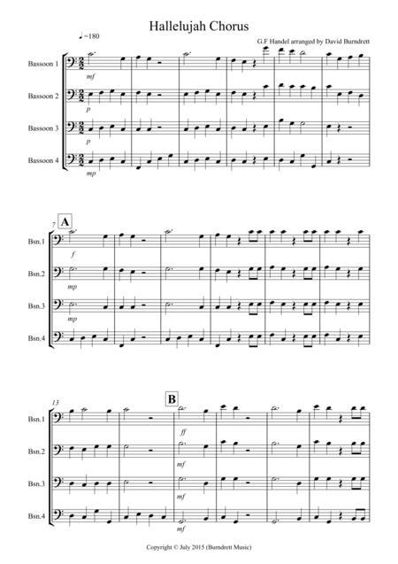 Hallelujah Chorus for Bassoon Quartet