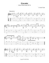 Gavotte (from Violin Sonata, RV 9)