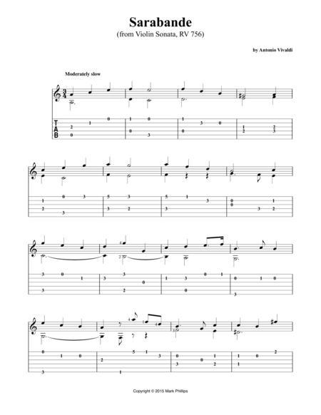 Sarabande (from Violin Sonata, RV 756)