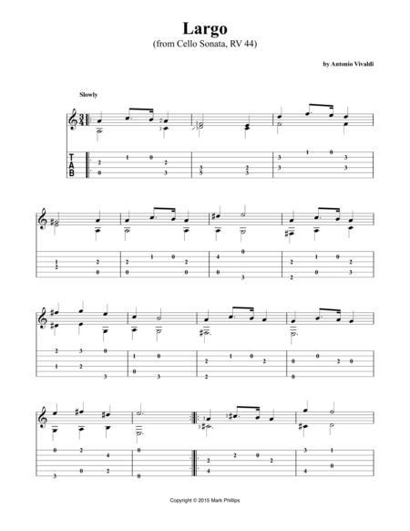 Largo (from Cello Sonata, RV 44)