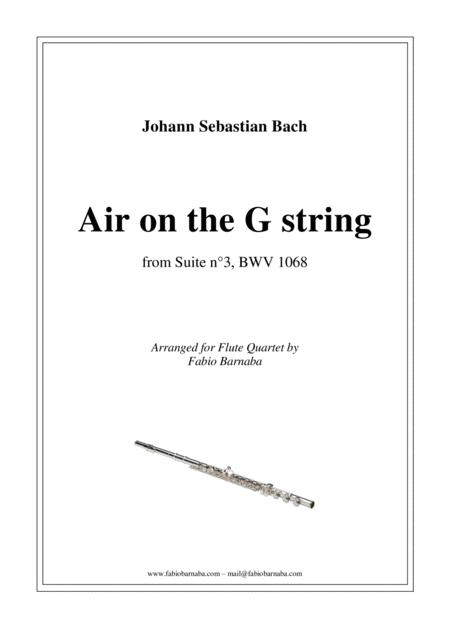 Air on the G string - for Flute Quartet or Flute Choir