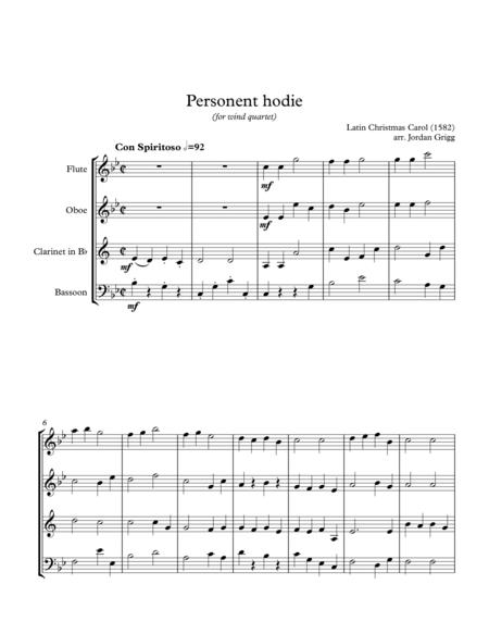 Personent hodie (for wind quartet)