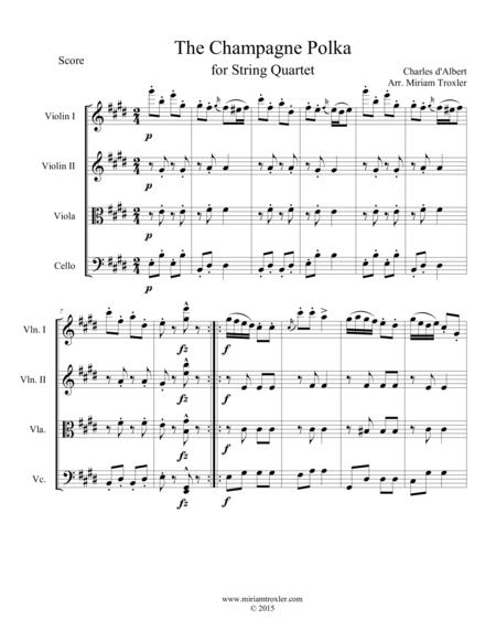 The Champange Polka for String Quartet