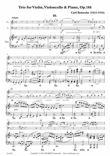 Adagio from Trio for Violin, Violoncello & Piano, Op.188