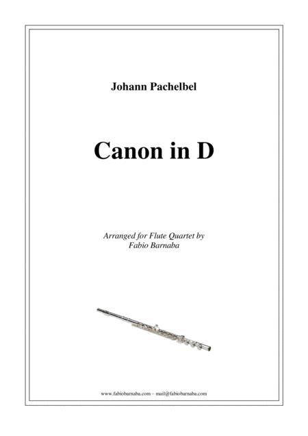 Pachelbel - Canon in D - For Flute Quartet or Flute Choir