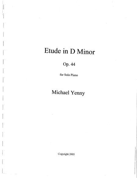 Etude in D minor, op. 44