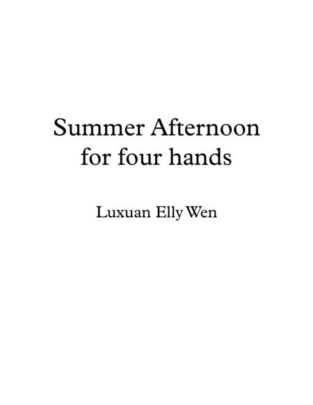 Summer Afternoon, Bossa Nova Piano Duet for 1 piano 4 hands.