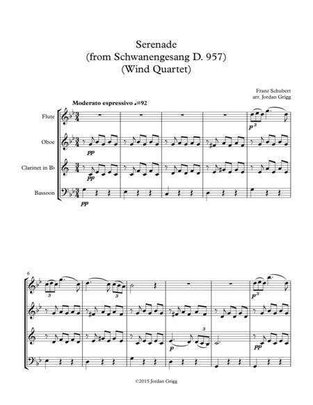 Serenade (from Schwanengesang D 957) (Wind Quartet)