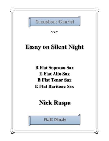 essay on silent night (saxophone quartet) by nick raspa - digital sheet  music for score,set of parts - download & print s0.72711 | sheet music plus  sheet music plus