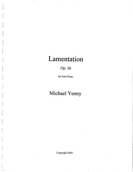 Lamentation, op. 36