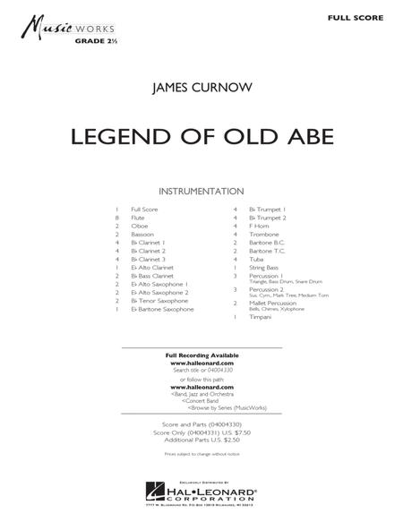 Legend of Old Abe - Full Score