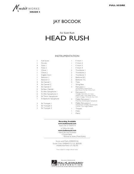 Head Rush - Conductor Score (Full Score)