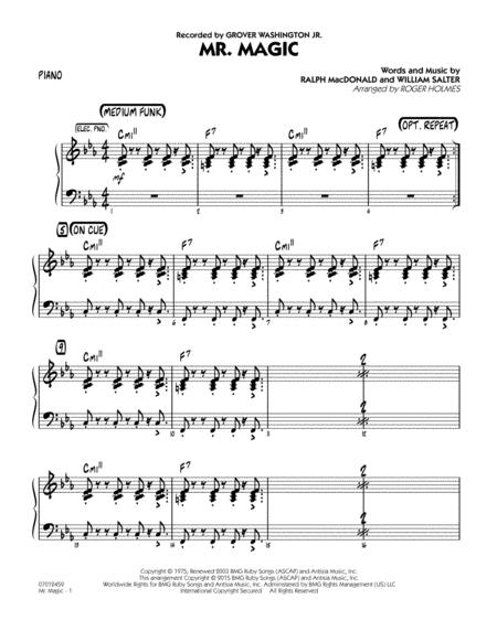 Download Mister Magic Mr Magic Piano Sheet Music By Grover
