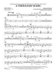 A Thousand Years (from The Twilight Saga: Breaking Dawn, Part 1) - Percussion 2