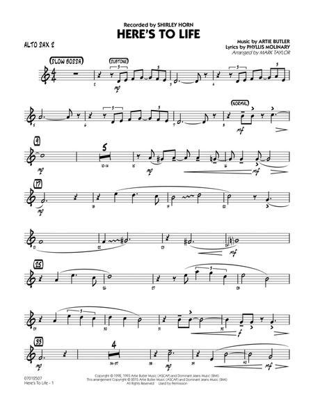 Here's To Life (Key: C minor) - Alto Sax 2