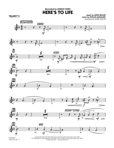 Here's To Life (Key: C minor) - Trumpet 2