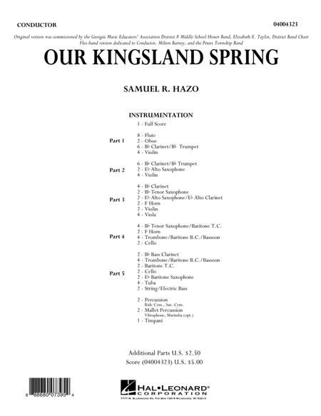 Our Kingsland Spring - Conductor Score (Full Score)