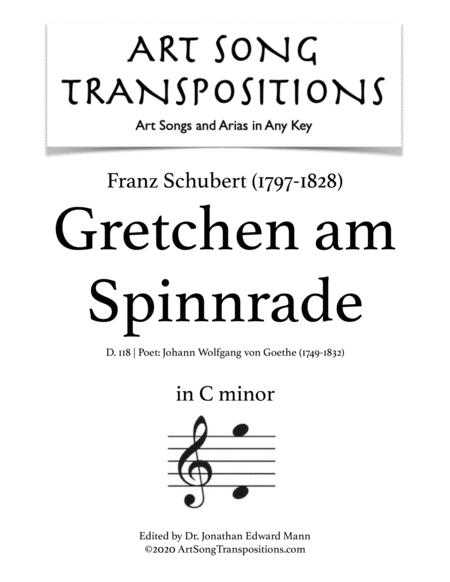 Gretchen am Spinnrade, D. 118 (C minor)