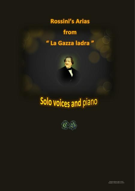 Rossini's arias from - La Gazza ladra - Solo voices and piano