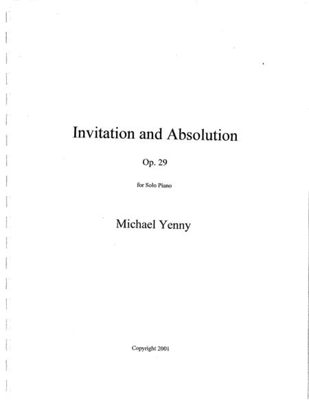 Invitation and Absolution, op. 29