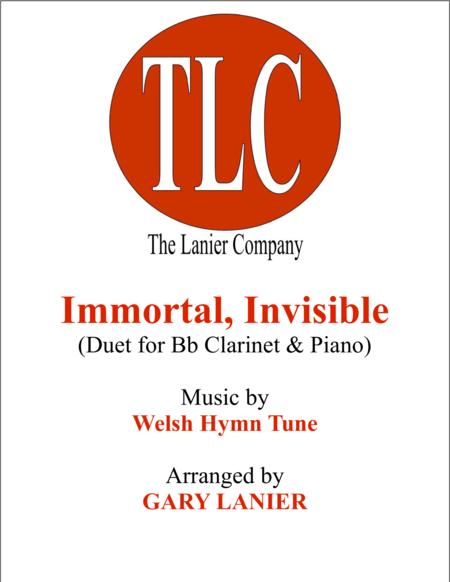 IMMORTAL, INVISIBLE (Duet – Bb Clarinet and Piano/Score and Parts)