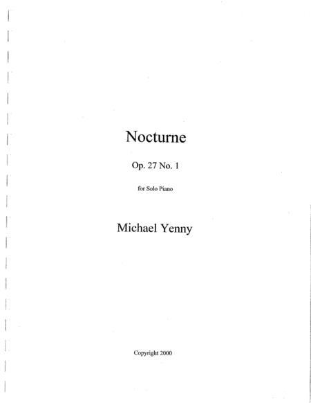 Nocturne, op. 27 no. 1