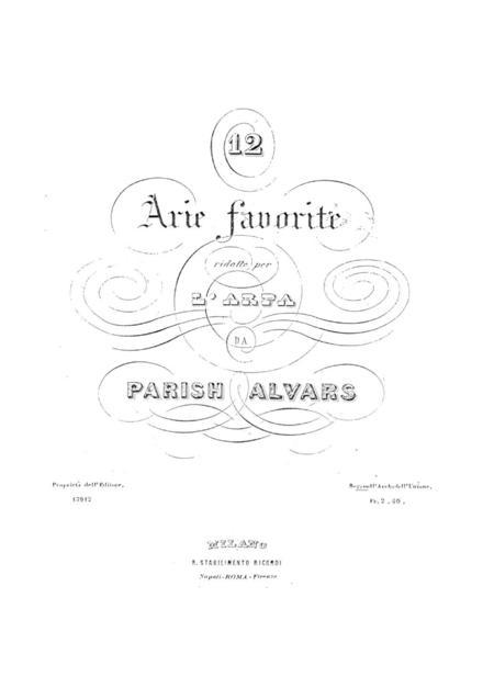 12 Opera Arias for Harp (easy)