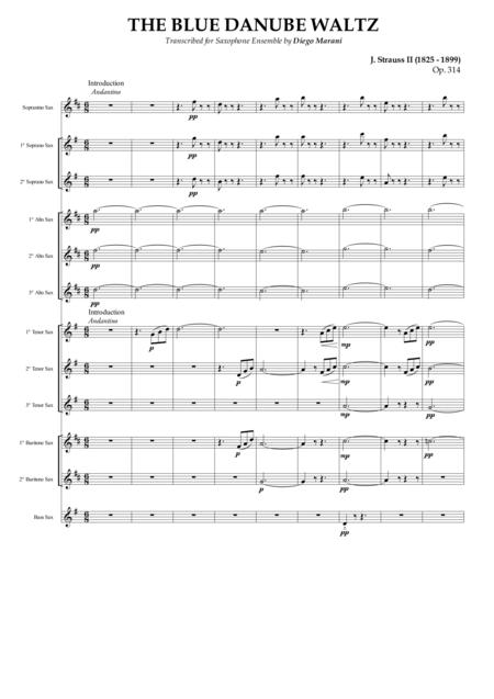 The Blue Danube Waltz for Saxophone Ensemble