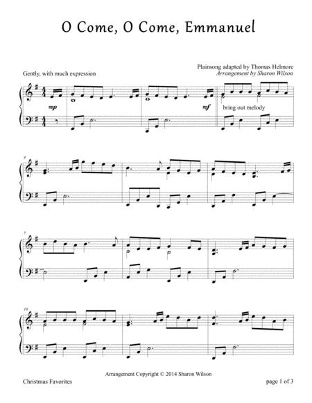 Download O Come O Come Emmanuel Piano Solo Sheet Music By