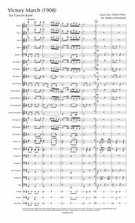 Victory March (1908) for Concert Band (score)