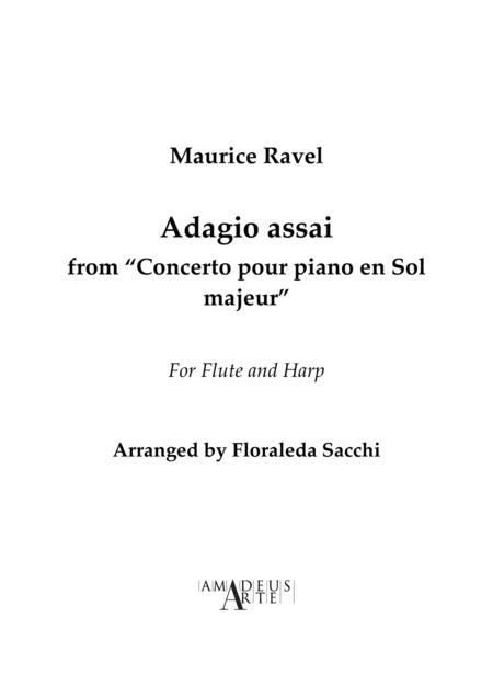 Adagio assai, from Piano Concerto in G major, For Flute and Harp