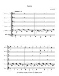Pachelbel's Canon for Clarinet Sextet