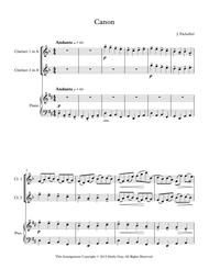 Pachelbel's Canon for 2 Clarinets and Piano