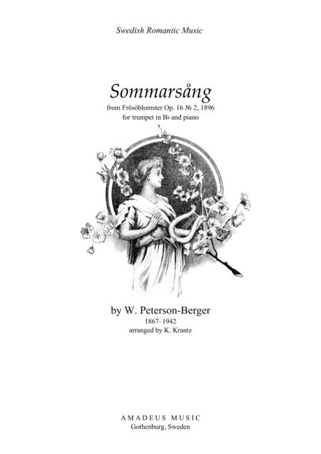 Sommarsång (Summer Song) for clarinet in Bb and piano