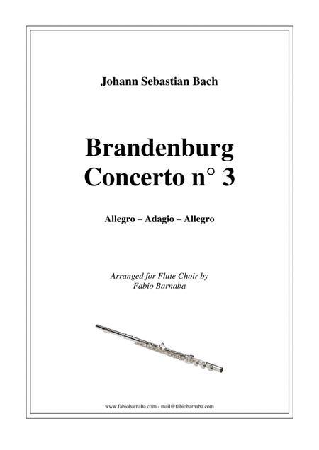 Brandenburg Concerto n°3 - Complete for Flute Choir
